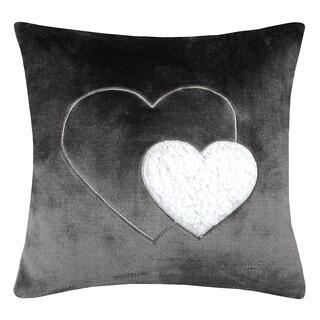 Poduszka dekoracyjna COCOON serce antracytowa 40 x 40 cm