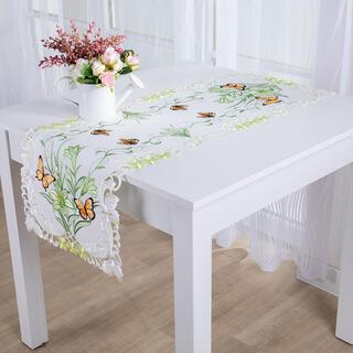Bieżnik na stół z haftem MOTYLE 40 x 110