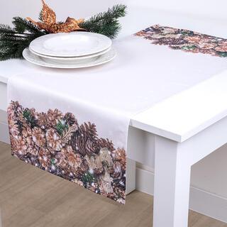 Bieżnik na stół ZŁOTE SZYSZKI 40 x 90 cm