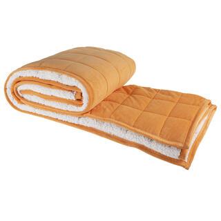 Pikowany koc OWIECZKA pomarańczowy 150 x 200 cm