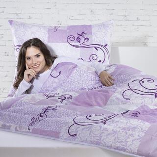 Zestaw - kołdra i poduszka z mikrowłókna fioletowy