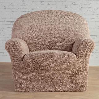 Bi-elastyczne pokrowce MEDITERRANEO beżowe fotel (sz. 60 - 110 cm)