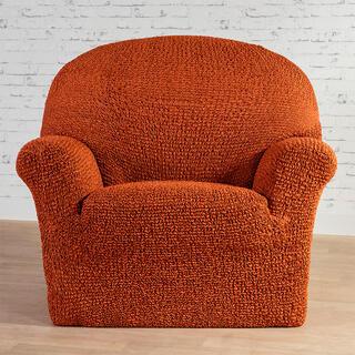 Bi-elastyczne pokrowce MEDITERRANEO ceglaste fotel (sz. 60 - 110 cm)