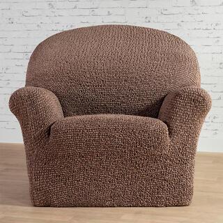 Bi-elastyczne pokrowce MEDITERRANEO brązowe fotel (sz. 60 - 110 cm)