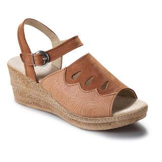 Damskie skórzane buty na koturnie