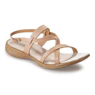 Damskie sandały skórzane spacerowe