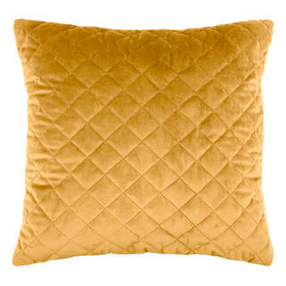 Pikowana poduszka DANAÉ MOUTARDE 40 x 40 cm