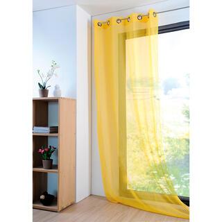 Kolorowa firana MONNA żółta 135 x 260 cm