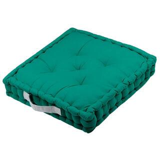 Poduszka do siedzenia na podłodze DUO UNI zielona, zestaw 4 szt.