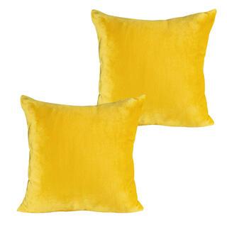Poszewki na poduszki z mikroflaneli musztardowe 2 szt.