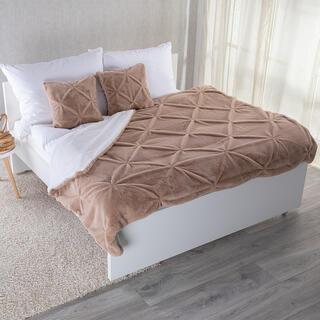 Zestaw barankowy koc i 2 poszewki na poduszkę 3D wygląd