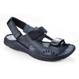 Męskie skórzane sandały czarne