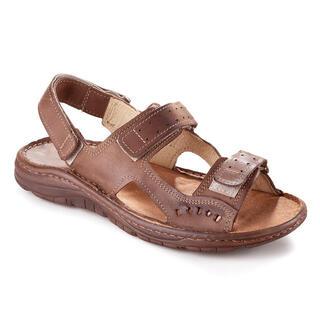 Męskie skórzane sandały brązowe