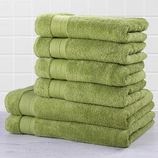 Zestaw ręczników frotte i ręczników kąpielowych MEXICO zielony 6 szt.