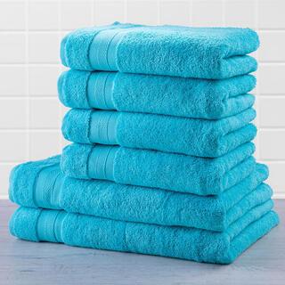 Zestaw ręczników frotte i ręczników kąpielowych MEXICO jasnoniebieski 6 szt.