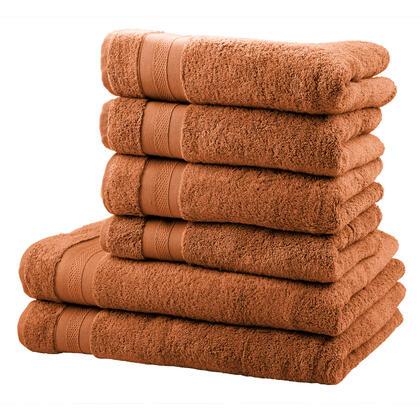 Zestaw ręczników frotte i ręczników kąpielowych MEXICO cynamonowy 6 szt.