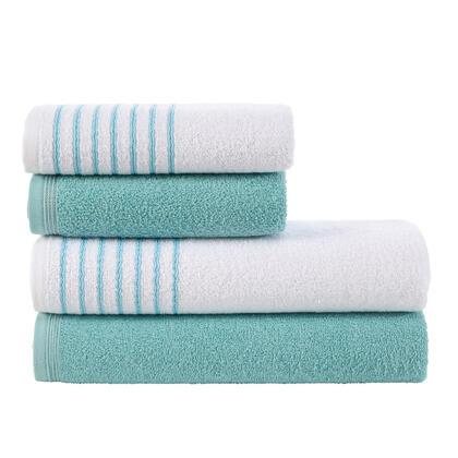 Zestaw ręczników frotte DAVOS turkusowe 4 szt.