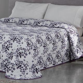 Narzuta na łóżko CARLOTA fioletowa