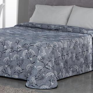 Narzuta na łóżko SOCORRO niebieskoszara