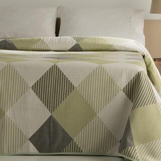 Narzuta na łóżko RUBI zielona