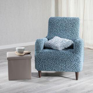 Bi-elastyczne pokrowce antybakteryjne SANITIZED petrol fotel (sz. 60 - 110 cm)
