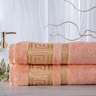 Zestaw 2 ręczników bambusowych ROMA morelowy 50 x 100 cm