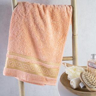 Ręcznik kąpielowy bambusowy ROMA morelowy 70 x 140 cm