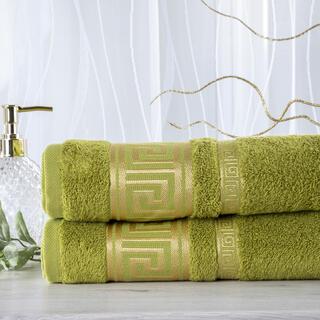 Zestaw 2 ręczników bambusowych ROMA zielony 50 x 100 cm