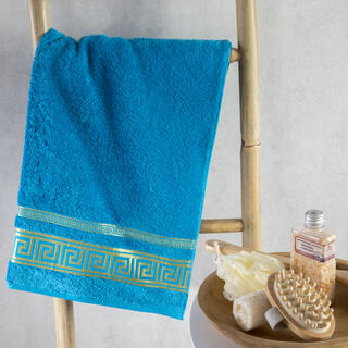 Ręcznik kąpielowy bambusowy ROMA turkusowy 70 x 140 cm