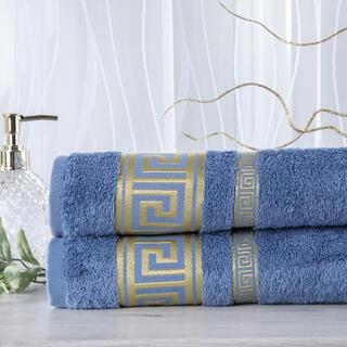 Zestaw 2 ręczników bambusowych ROMA niebieski 50 x 100 cm