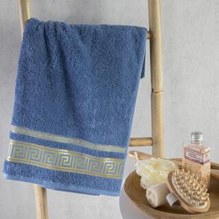 Ręcznik kąpielowy bambusowy ROMA niebieski 70 x 140 cm