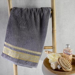 Ręcznik kąpielowy bambusowy ROMA ciemnoszary 70 x 140 cm