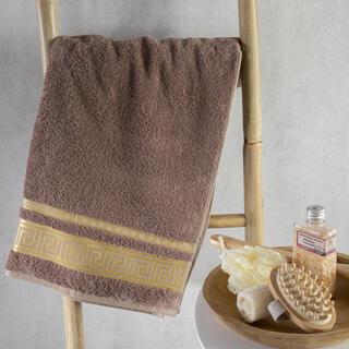 Ręcznik kąpielowy bambusowy ROMA jasny brąz 70 x 140 cm
