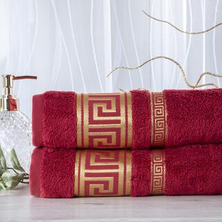 Zestaw 2 ręczników bambusowych ROMA bordowy 50 x 100 cm