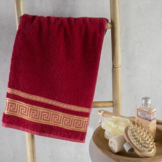 Ręcznik kąpielowy bambusowy ROMA bordowy 70 x 140 cm