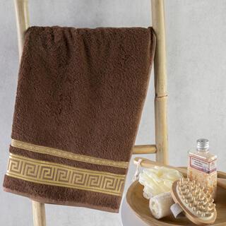 Ręcznik kąpielowy bambusowy ROMA brąz 70 x 140 cm