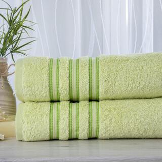 Zestaw 2 ręczników frotte FIRUZE jasnozielone 50 x 100 cm