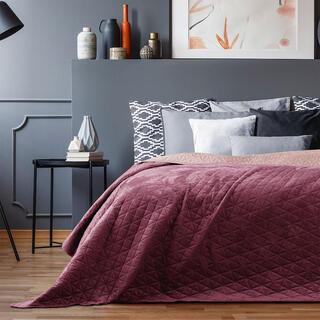 Narzuta na łóżko LAILA bordowa
