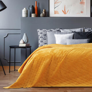 Narzuta na łóżko LAILA miodowa