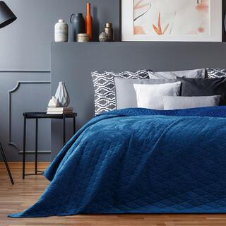 Narzuta na łóżko LAILA królewski błękit