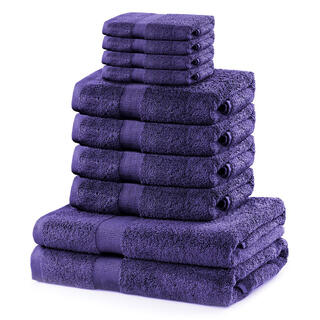 Komplet ręczników frotte MARINA purpurowy 10 szt.