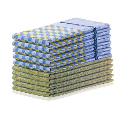 Bawełniane ścierki kuchenne LOUIE żółte 50 x 70 cm 10 szt.