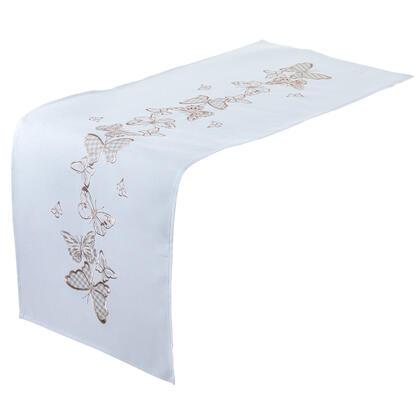 Bieżnik na stół z haftem MOTYLE 40 X 110 CM