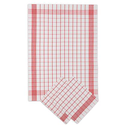 Ścierki kuchenne POZYTYW czerwony 50 x 70 cm zestaw 3 szt.