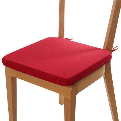 Poduszka siedzisko z możliwością prania czerwona, zestaw 4 szt.