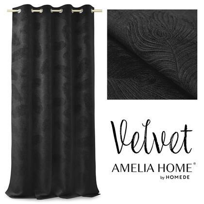 Zasłony BLACKOUT PEACOCK czarne 135 x 250 cm
