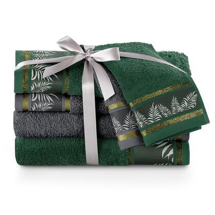 Zestaw ręczników łazienkowych PAVOS szmaragd 6 szt.