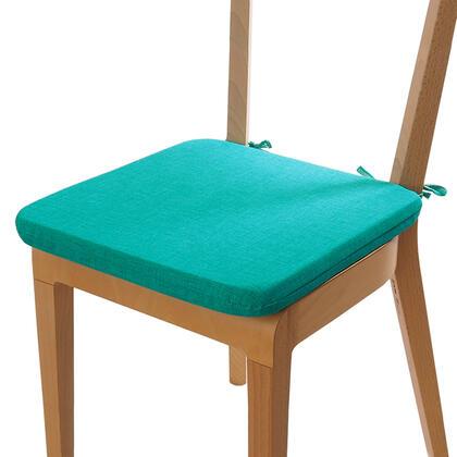 Poduszka siedzisko z możliwością prania turkusowa, zestaw 4 szt.
