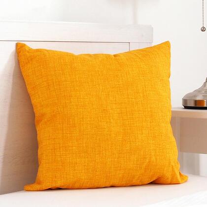 Poduszka dekoracyjna BESSY 45 x 45 cm żółta, zestaw 2 szt.