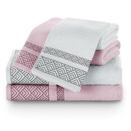 Zestaw ręczników VOLIE szare i różowe 6 szt.